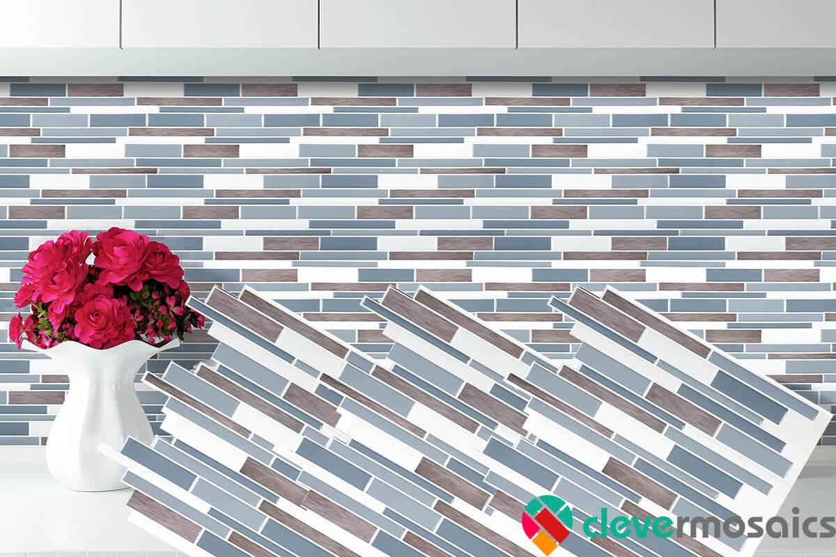Clever Mosaics stickable adhesive tile kitchen backsplash