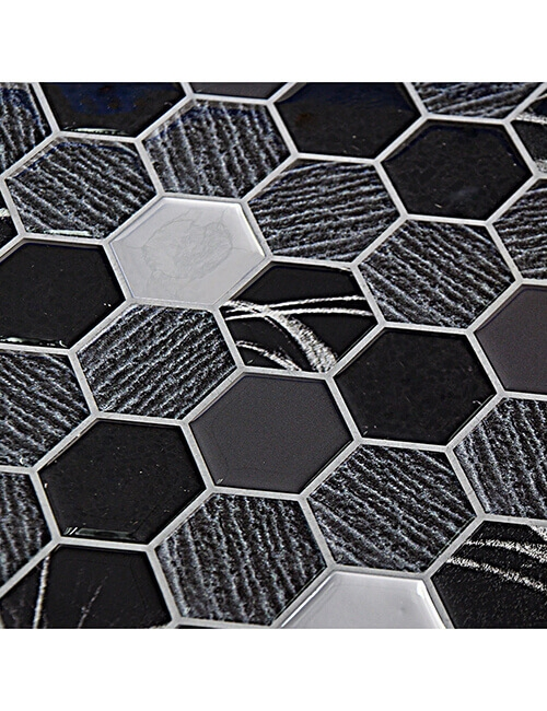 Clever Mosaics stone hexagon mosaic tile