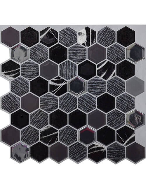 Clever Mosaics stone hexagon tile