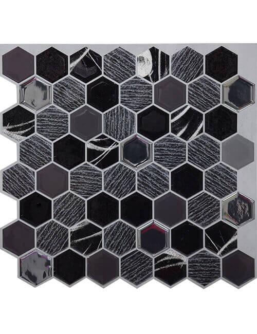 Clever Mosaics stone hexagon tile