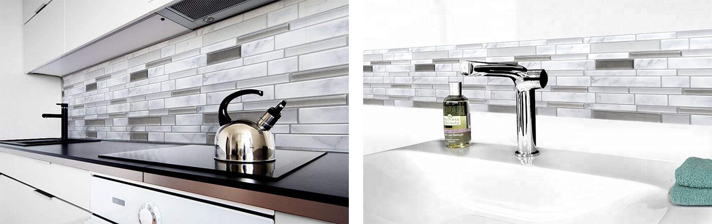 kitchen and bathroom remodeling Carrara marble tile
