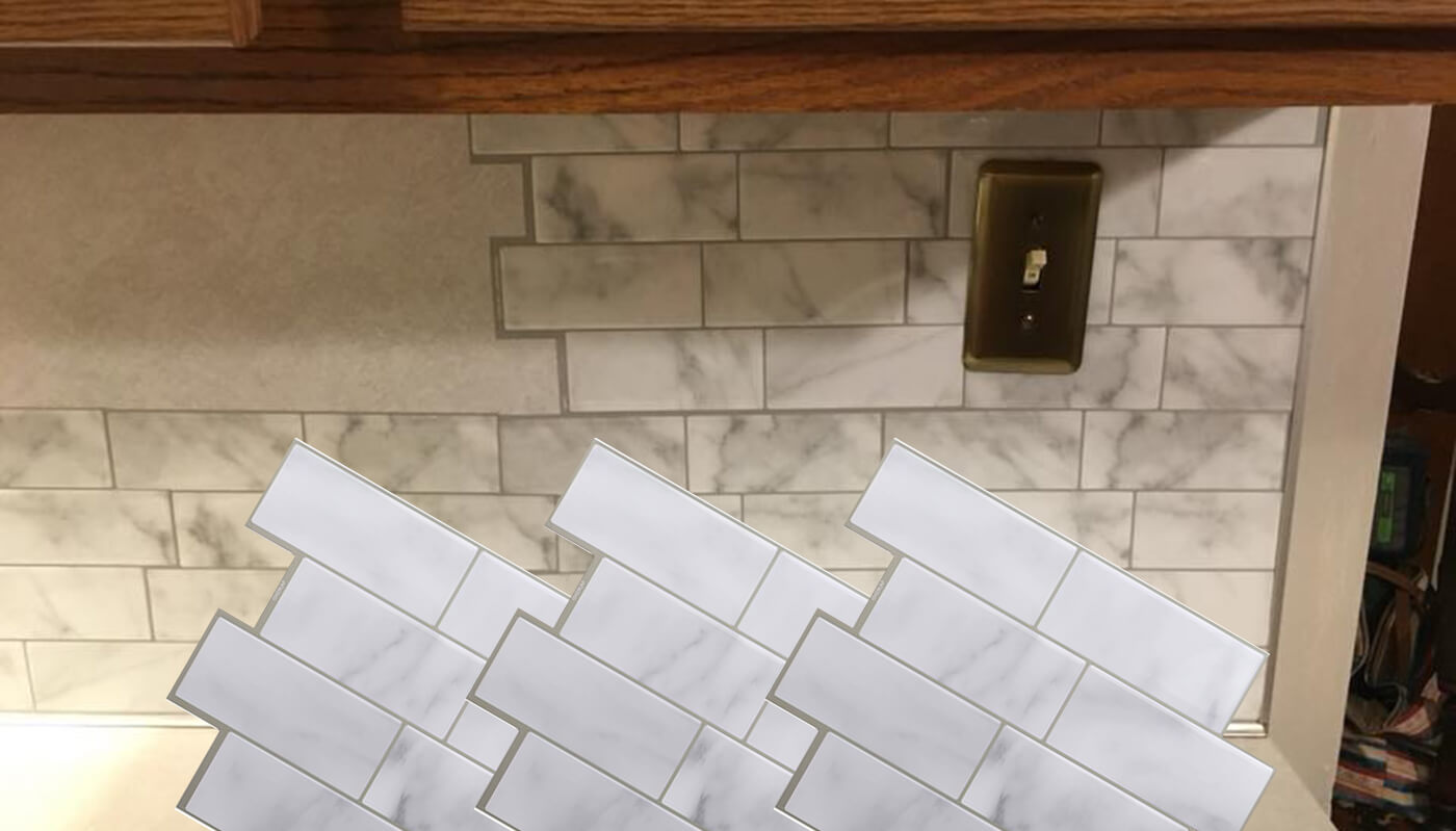 Clever Mosaics backsplash for kitchen remodeling