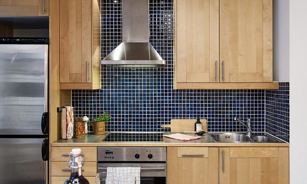 decorative glass tile backsplash