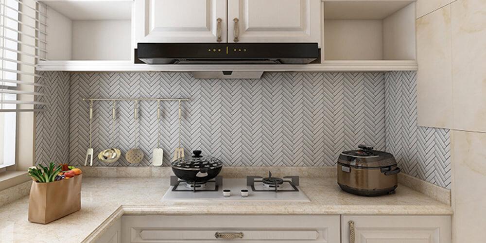 decorative stone tile backsplash