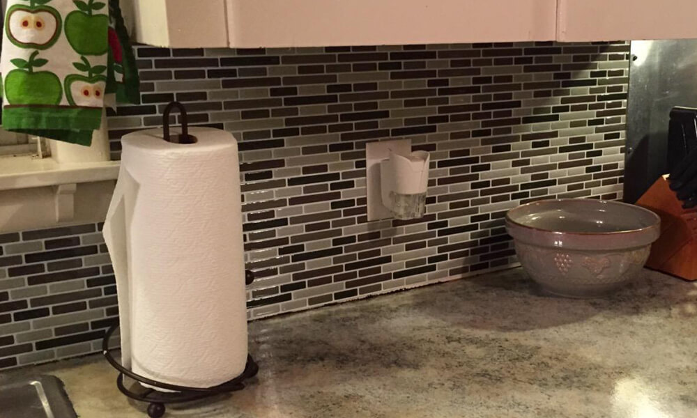 decorative vinyl tile from Clever Mosaics