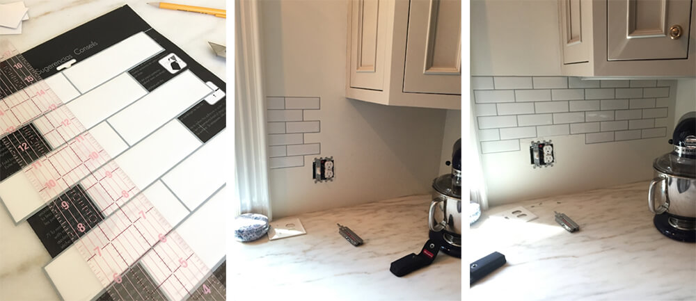 install peel and stick subway tile for kitchen backsplash