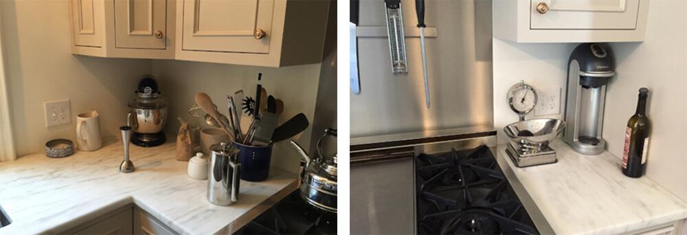 kitchen backsplash before using peel and stick subway