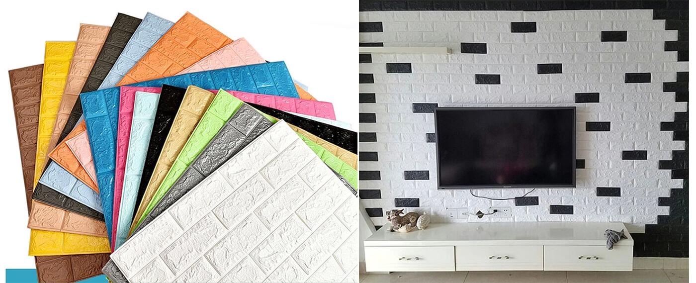 sticky foam tile