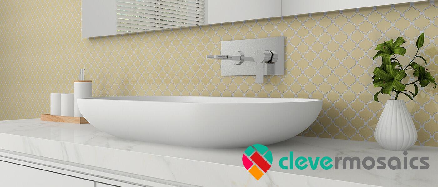bathroom mosaic tile backsplash