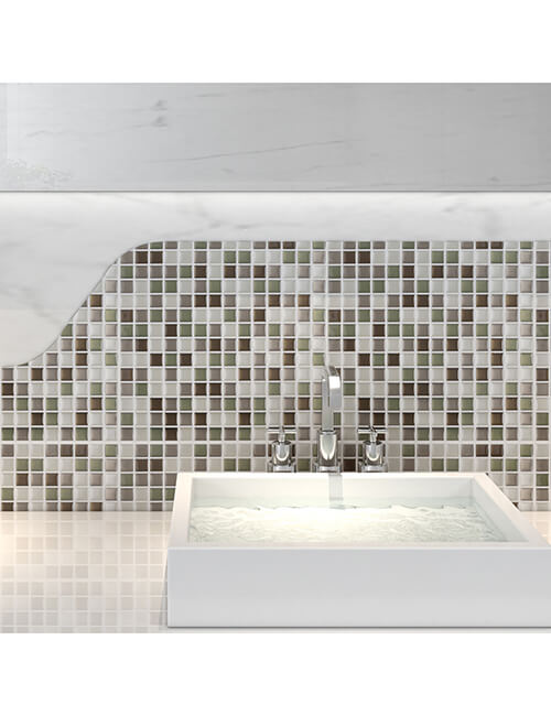 sticky vinyl wall tile for kitchen and bathroom
