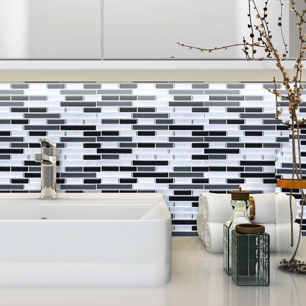 bathroom wall easy refresh idea
