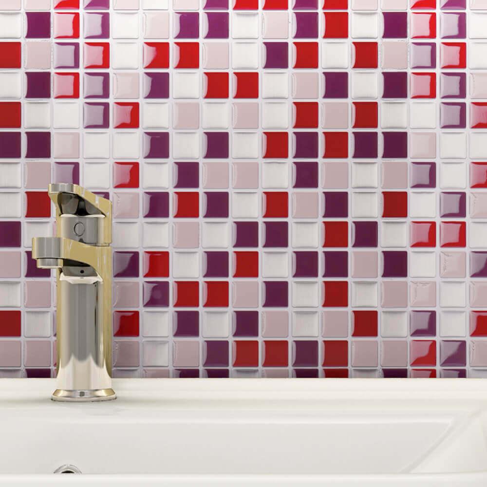 pink mosaic wall tile