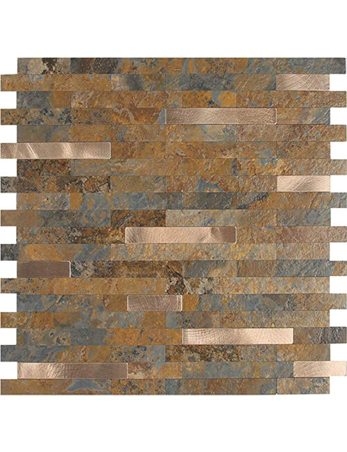 peel and stick faux stone tile