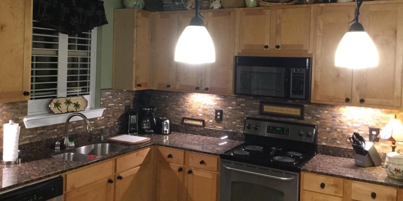 peel and stick kitchen faux stone backsplash