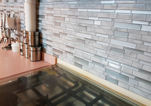 peel and stick marble tile for kitchen walls