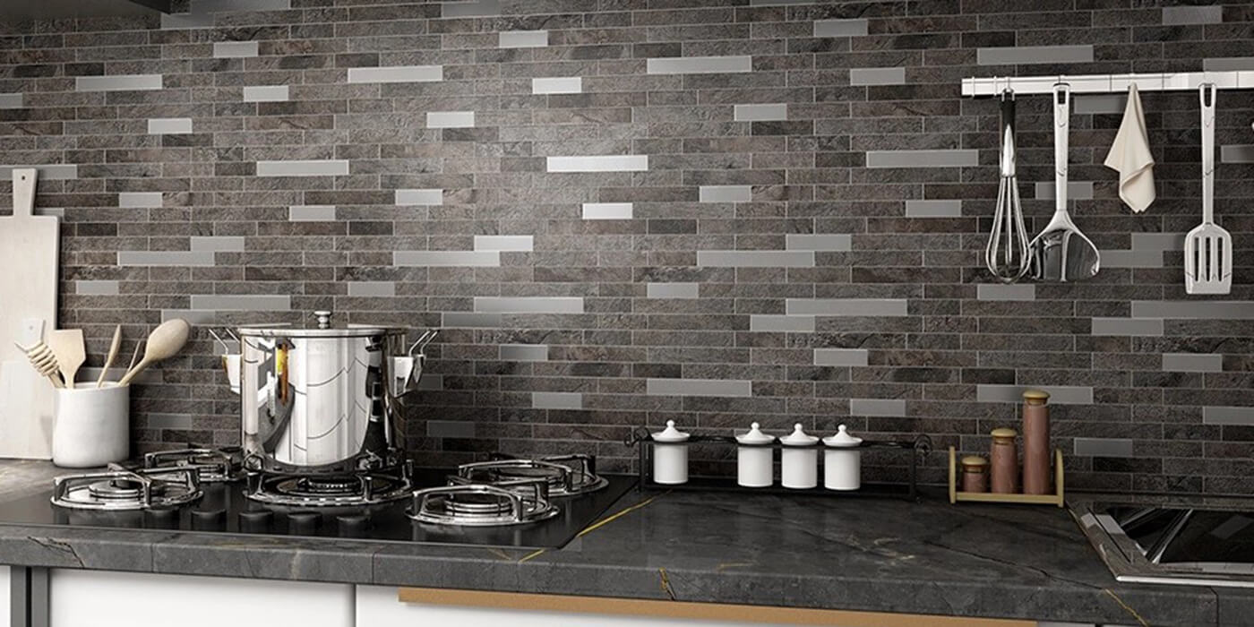 kitchen backsplash peel stick overlay ston