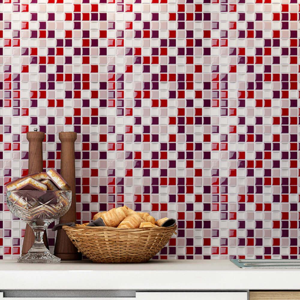 pink kitchen tile
