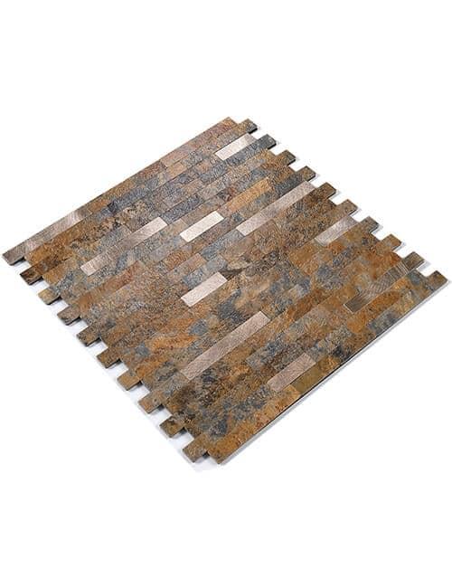 sticky faux stone tile