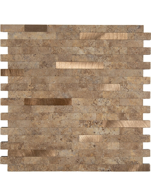 peel stick brown stone tile