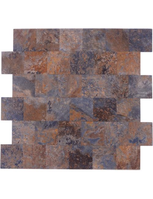 peel stick pvc rusty slate backsplash stone subway tile 5pcs per pack