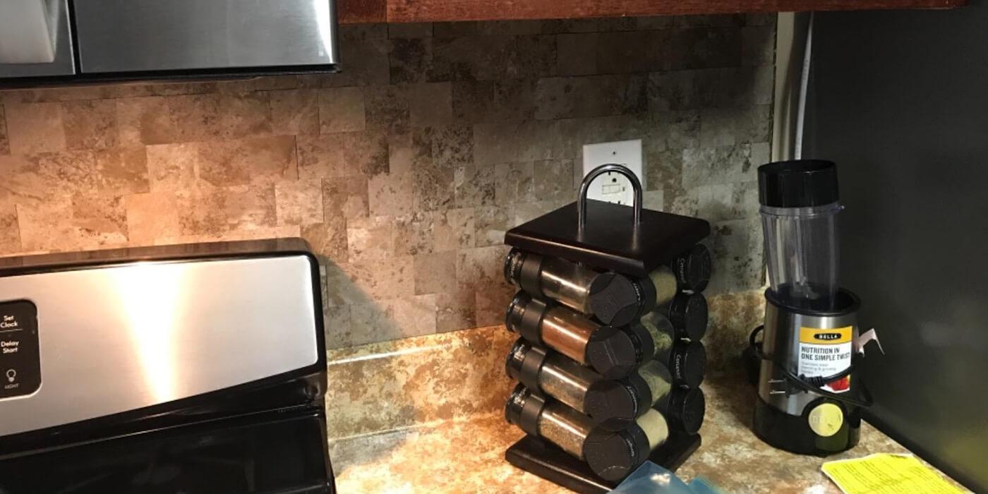 self adhesive grey marble subway tile for kitchen backsplash