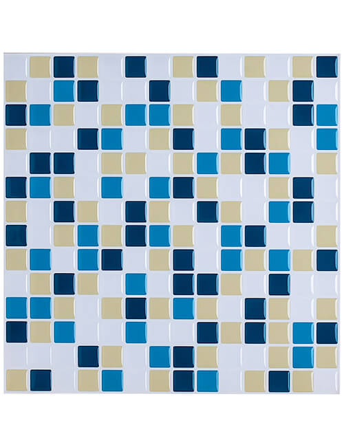 colorful vinyl tile decal