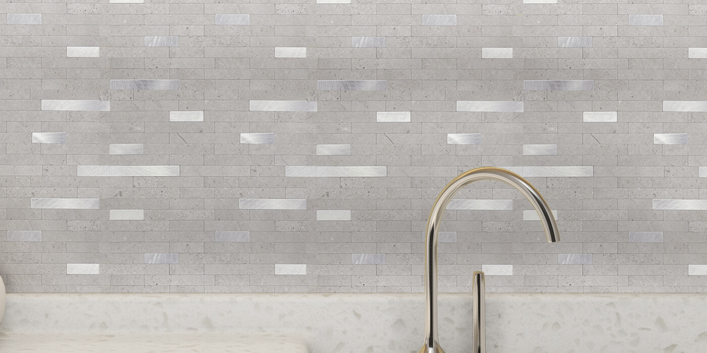 decorative stone tile backsplash