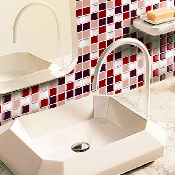 bathroom design with pink tiles