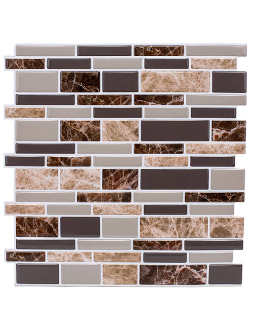 peel stick brown marble tile