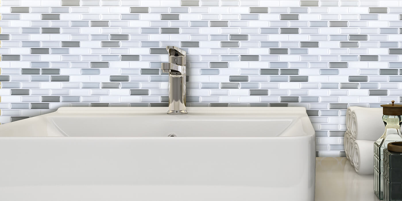 creative tile backsplash bathroom