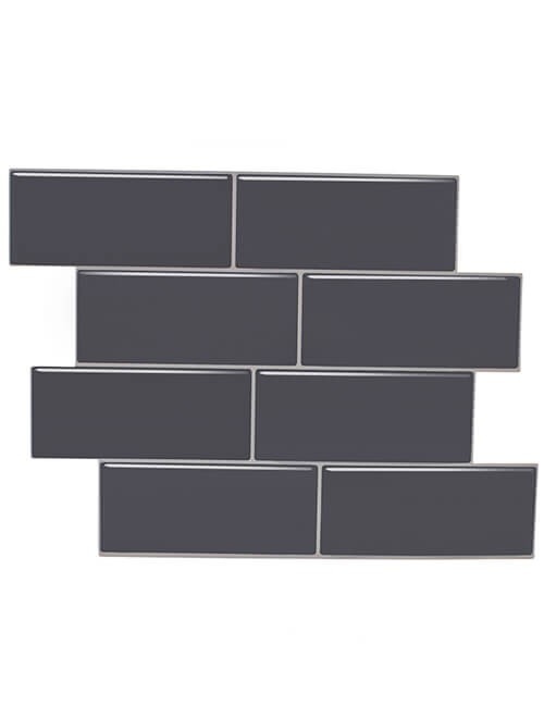 thick gray vinyl wall tile