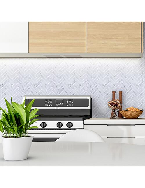 kitchen backsplash grey herringbone tile