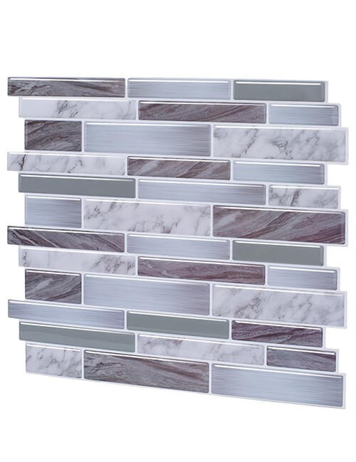 oblong grey vinyl tile