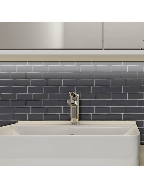 bathroom peel stick gray subway tile