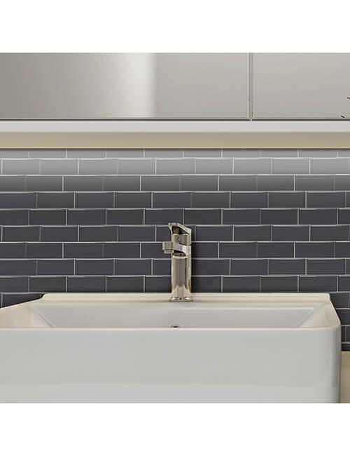 bathroom peel stick gray subway tile