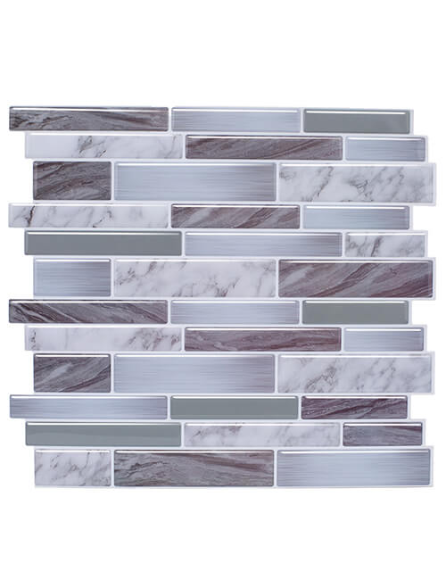 peel stick grey marble tile