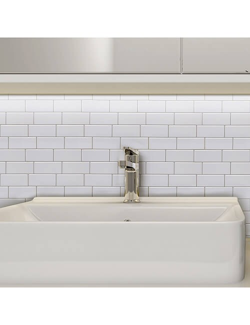 peel stick subway tile bathroom