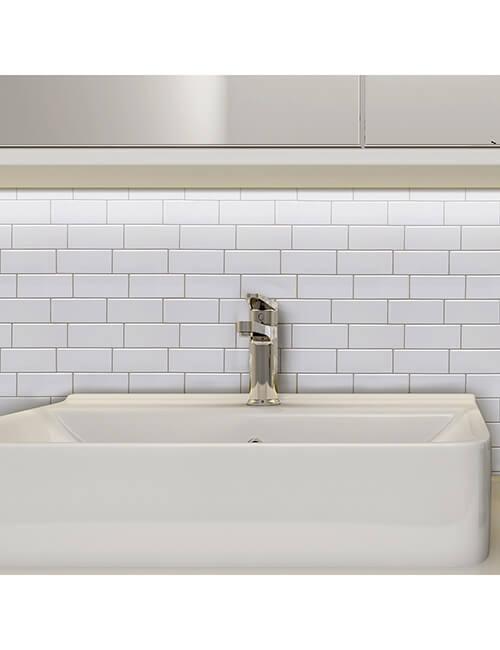 peel stick subway tile bathroom