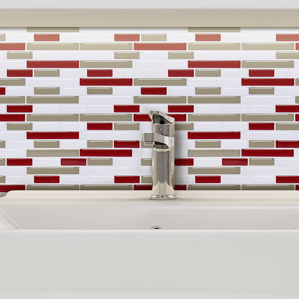 red tiles for bathroom