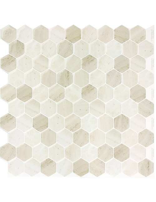 soft hexagon golden brown tile