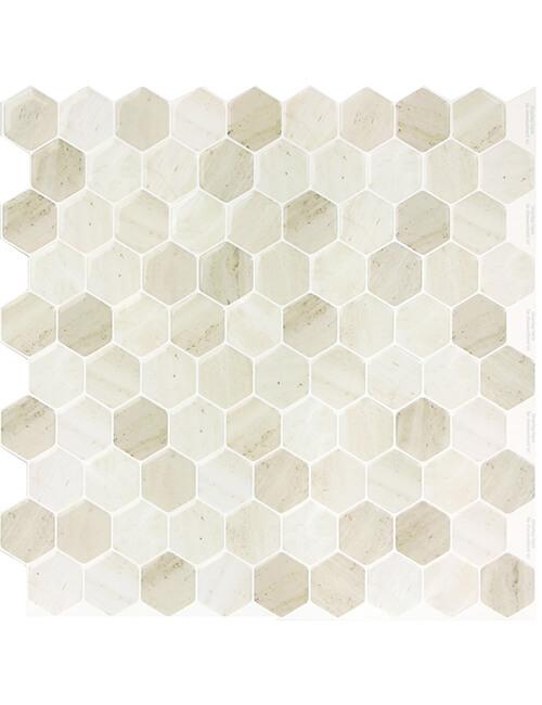 soft hexagon golden brown tile