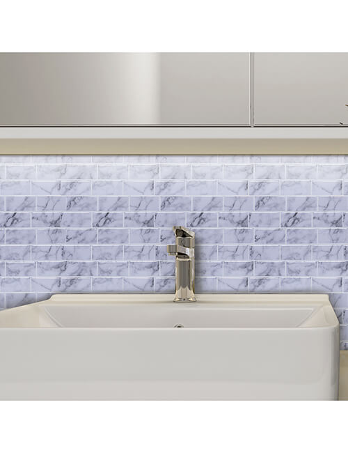 waterproof grey subway tile