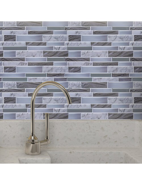 waterproof grey oblong tile
