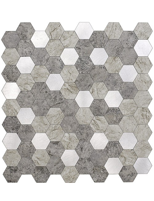 3d peel stick hexagon stone backsplash