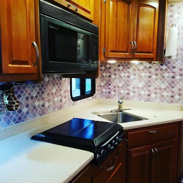 DIY RV backsplash