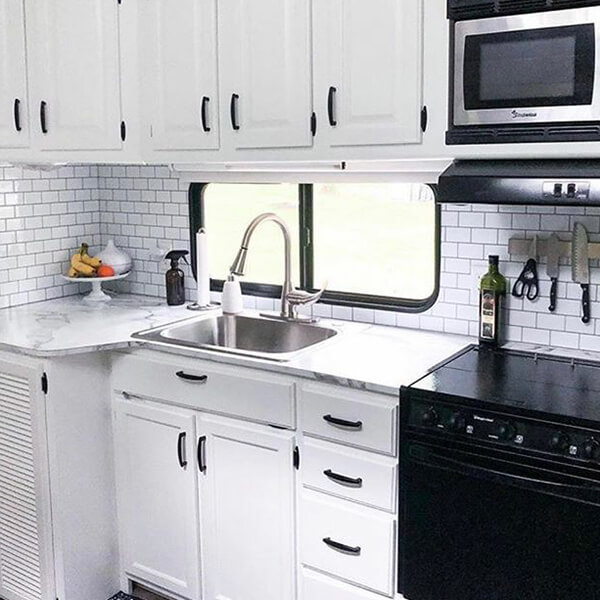 RV tile backsplash kitchen