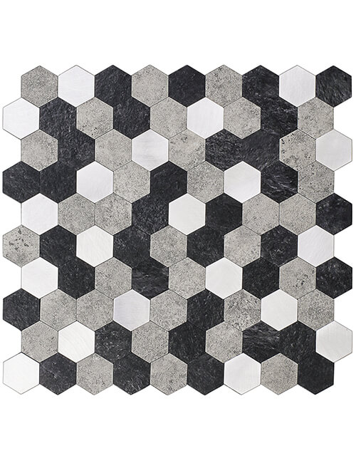 composite peel and stick mosaic tile