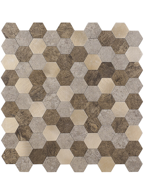 hexagon pvc composite stone tile