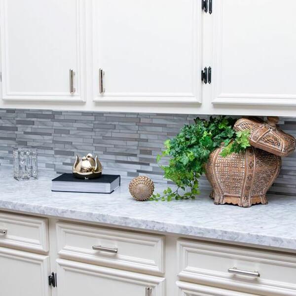peel and stick backsplash RV kitchen
