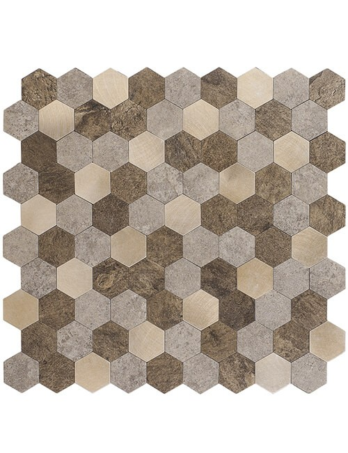 peel and stick composite pvc stone tile hex